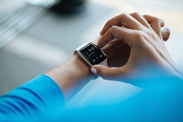 the wearable apple watch.