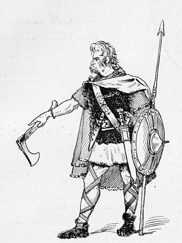 An illustration of a Celtic warrior.
