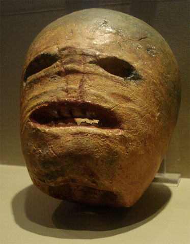 A traditional Irish Turnip lantern.