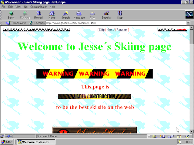 A spammy geocities page.