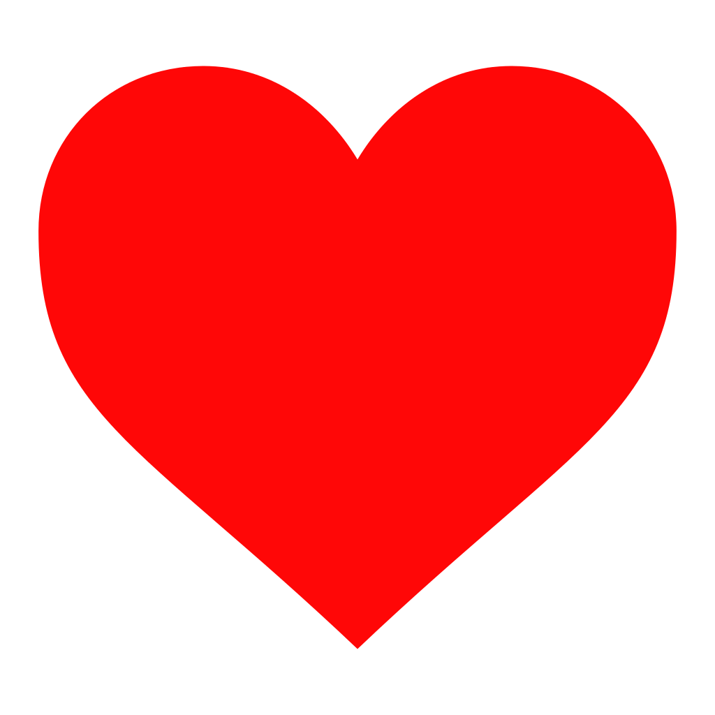 Twitter's new red heart symbol, replacing the classic star.