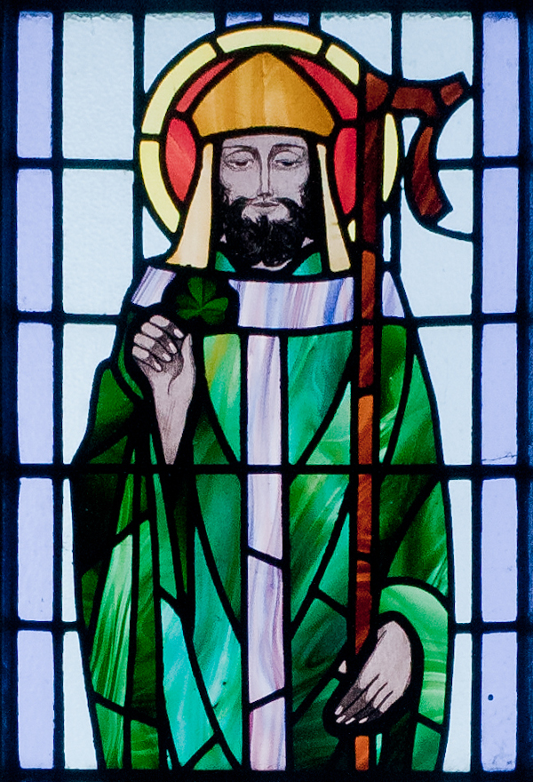 St Patrick's Day Stained Glass Window
