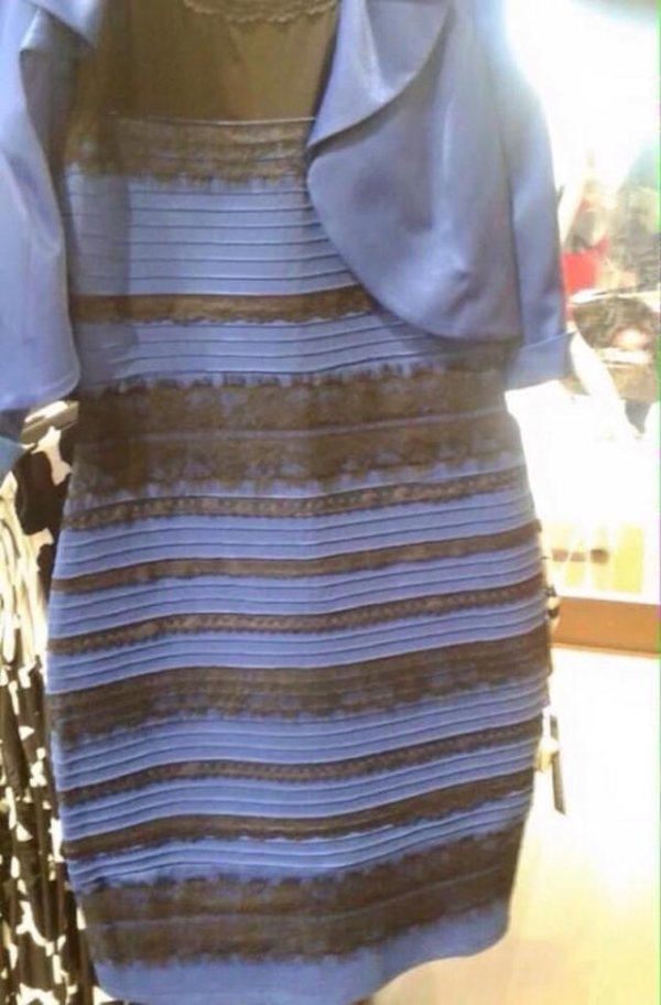 The dress that rocked the nation, is it black and blue or white and gold?