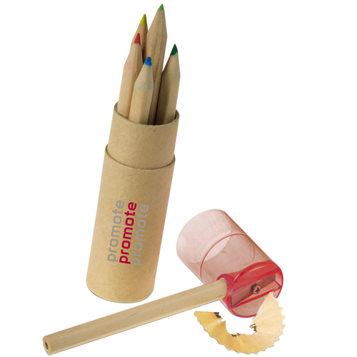 6 Colour Pencils with Sharpener