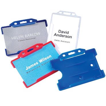 Promotional Rigid Card Holders for exhibitions