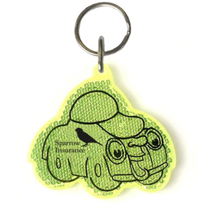 Car Reflector Keyrings