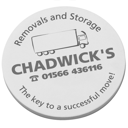 Personalised Circular Sticky Notes printed with logos