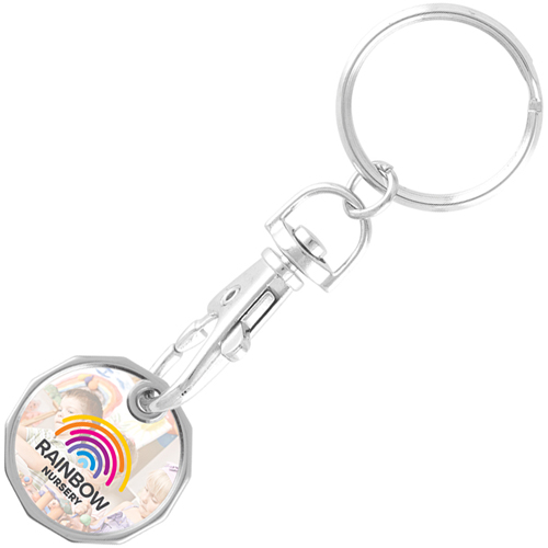 Branded Express New Shape Printed Trolley Coins for giveaways