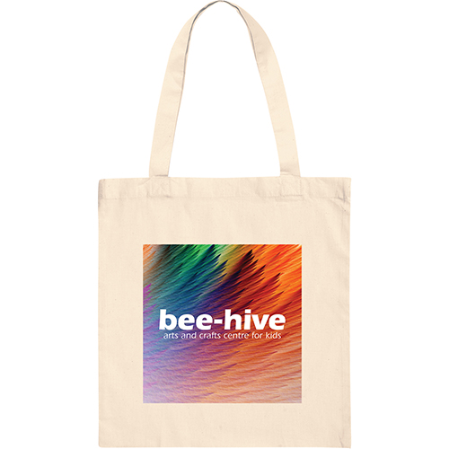 Printed Full Colour Cotton Tote Bags with company design