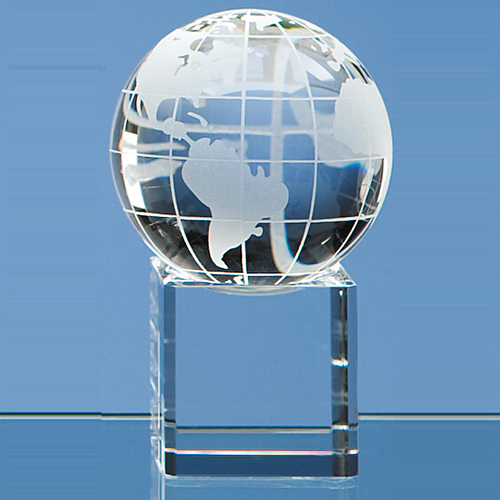 Globe on Clear Base