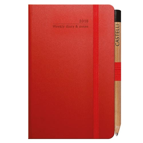 Branded Ivory Matra Pocket Weekly Diaries for company giveaways