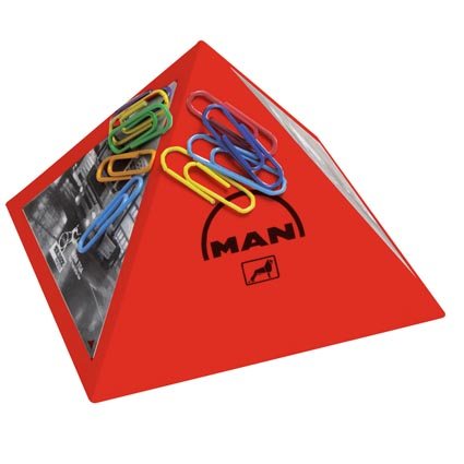 Magnet Pyramid Paper Clip Holders   Personalised Business Gifts ...