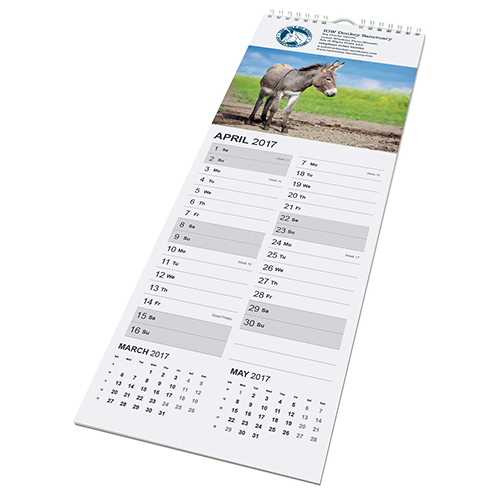Promotional Midi Wall Calendar for workplaces
