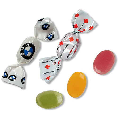 Promotional wrapped sweets for giveaways