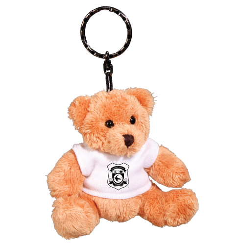Promotional Robbie Teddy Bear Keyrings for marketing campaigns