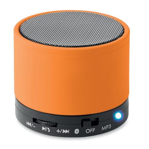 round bluetooth speakers personalised bluetooth speakers promotional merchandise. Black Bedroom Furniture Sets. Home Design Ideas