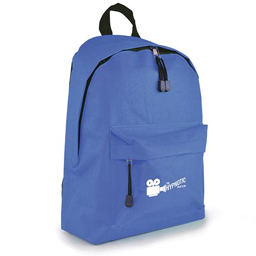Custom branded Royton Backpacks printed corporate merchandise