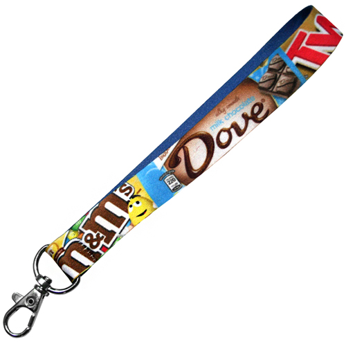Promotional Smooth Fabric Keyrings for business gifts