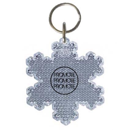 Snowflake Reflector Keyrings