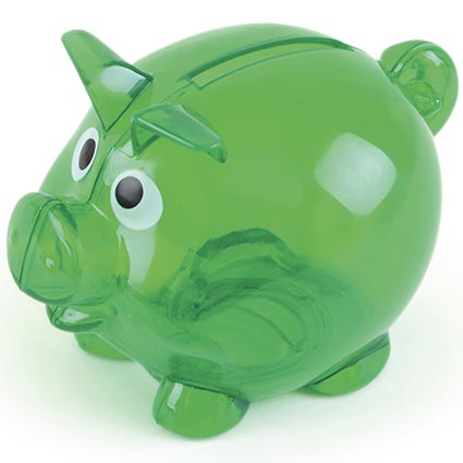 Colour picker green total merchandise for Mini piggy banks