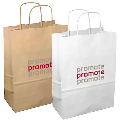 Printed Twisted Paper Handle Carrier Bag for events