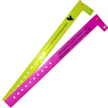 Custom Branded Vinyl ID Wristbands printed for events