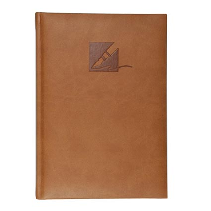Promotional A5 Tucson Notebooks from the highly esteemed Castelli company, manufactured with soft touch Tucson cover and branded with your logo in a stylish, professional embossed design. These personalised A5 notebooks have a portrait orientation and come supplied with approximately 128 feint ruled or graph white perforated pages, to allow easy removal of pages if desired. An ideal size for carrying with you at all times. A high quality, low cost professional branded notebook that will flaunt your logo or brand in style each time it is used.