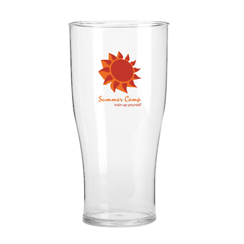 Promotional 20oz Tulip Reusable Plastic Pint Glasses with printed logo