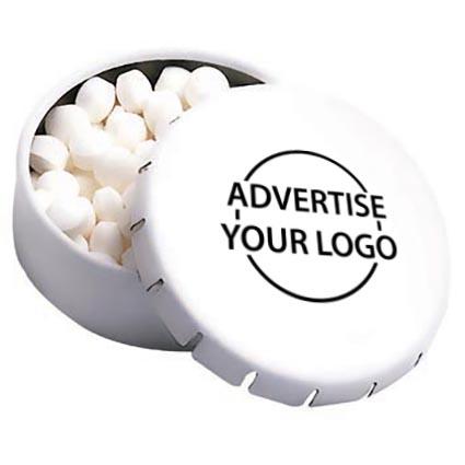 personalised click clack mint tins promotional mints branded giveaway sweets. Black Bedroom Furniture Sets. Home Design Ideas