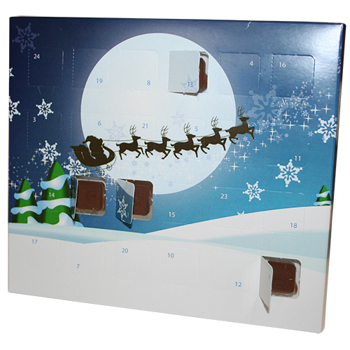 Custom Printed Desk Advent Calendars for Christmas Merchandise Gifts