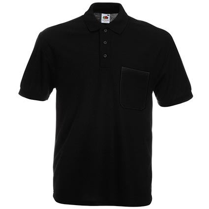 fruit of the loom pocket polo shirts personalised polo shirts promotional clothing. Black Bedroom Furniture Sets. Home Design Ideas