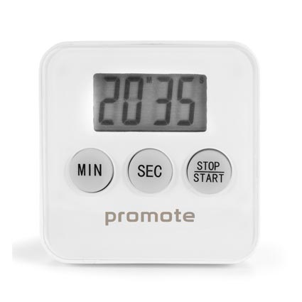 Promotional Magnetic Cooking Timer is plastic with a magnetic back. Great promotional gift for the catering industry or to have in the kitchen at home. Keep your logo on show with our branded magnetic cooking timer.