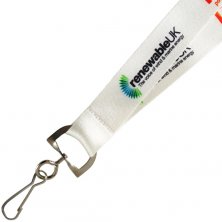 Promotional 20mm Dye Sublimation Lanyards branded with logo