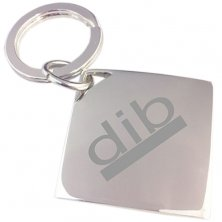 Company branded Diamond Shaped Keyrings engraved with a logo