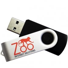 Promotional 4GB Twist USB Flashdrives for saving data