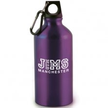 Printed purple sports bottles for gyms