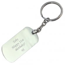 Promotional ID Dog Tag Keyrings with logo engraved