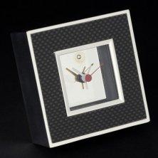 Promotional Carbon Fibre Square Clocks logo engraved
