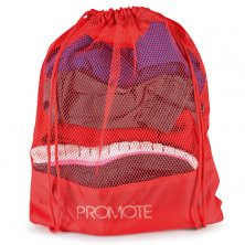 Promotional Mesh Drawstring Bags printed with company logo