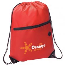 Promotional Headphone Slot Drawstring Bags for events