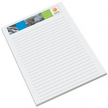 Printed note pads for company advertising