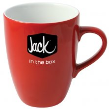 Company Branded Earthenware Mugs for workplaces