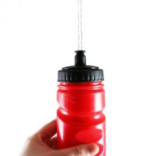 Water bottles printed with company logo