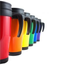 Branded travel mug for corporate gifts