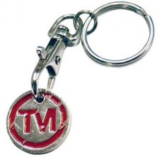 Promotional Trolley Coin Keyrings for Councils and Merchandising