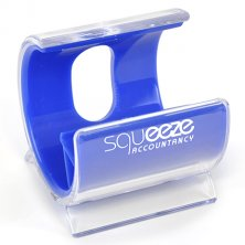 Turbo phone stands printed with company logo