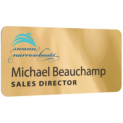 Printed Metal Staff Name Badges for businesses
