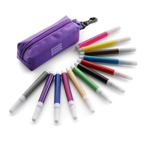 Promotional Felt Tip Pen Set with company logos