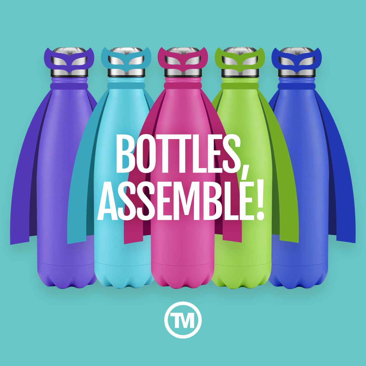 Branded metal water bottles