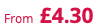 from £4.30